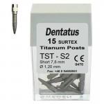 Surtex Pernos Titanio TST Corto 7,8mm. Reposición 15 uds.