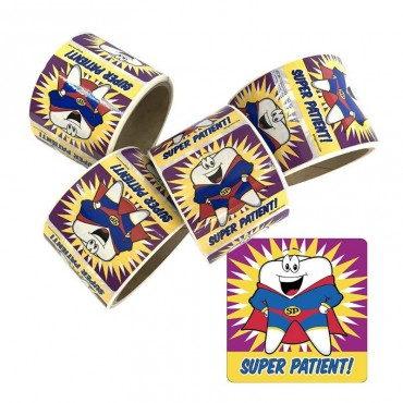 Stickers Súper Paciente 2 rollos de 100 unidades