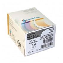 Sutura Blanca Supramid TB-15 3/0 Sintética NO Absorbible 50uds.