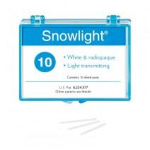Snowlight Postes Blancos de Fibra Reforzada Reposición 10 Uds