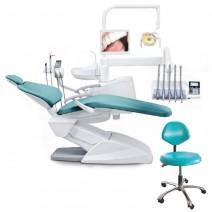 K100 KDM Equipo Dental con Aspiración Seca o Húmeda Verde Turquesa