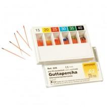 Puntas de Guttapercha Conicidad .02 ISO 90-140 Caja 60 uds