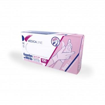 Guantes nitrilo rosa