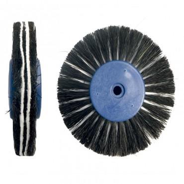Cepillo Pulidor Cerda Negra y Algodón Convergente Negra 6 uds