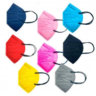 LK-Z1510 Mascarillas de Colores FFP2 CE2163 Desechables Adulto 10 uds