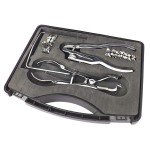 Estuche de Clamps: Forceps Brewer + Perforador + Arco + Clamps