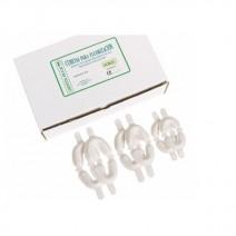 Cubetas para Flúor Blancas Dobles 50u