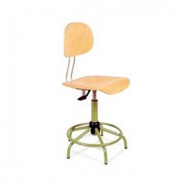 Taburete silla de madera con aro reposapi s - Taburete madera regulable ...