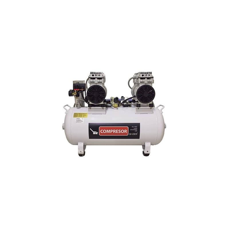 Compresor de aire 50l sd100 8gl de bader for Compresor de aire silencioso