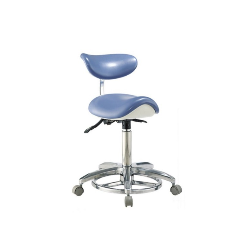 Stool chair taburete con respaldo cl nica dental de bader - Taburete con respaldo ...