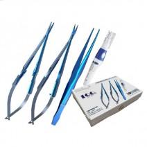 Estuche para Microcirugía LiquidSteel 4 piezas