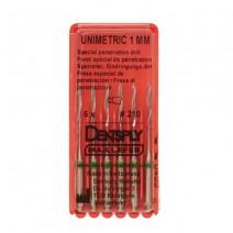 Unimetric Fresa de Penetración 1mm. 6uds.