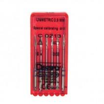 Unimetric Fresa de Calibración 0.08mm. 6uds.
