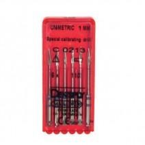 Unimetric Fresa de Calibración 1mm. 6uds.
