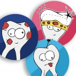 Stickers Molares Surtido 6u Molar Design