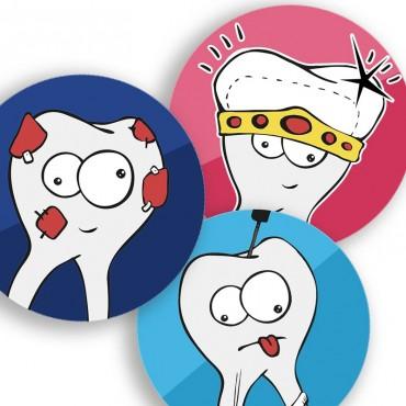 Stickers Molares Surtido 6u