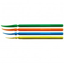 WANDS CU?AS PLASTICO C/MANGO X-FINA AMARILLAS 100u