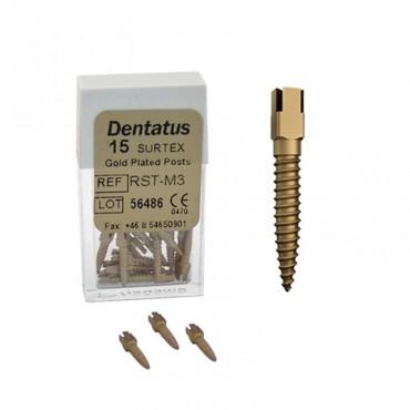 Perno Dorado Classic Surtex Medio 9,3mm. Reposición 15u.