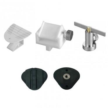 Kit Accesorios + Placas para Articulador Facial 7 piezas