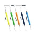 Paro Set Color Periodontología 5 Curetas Mango Silicona