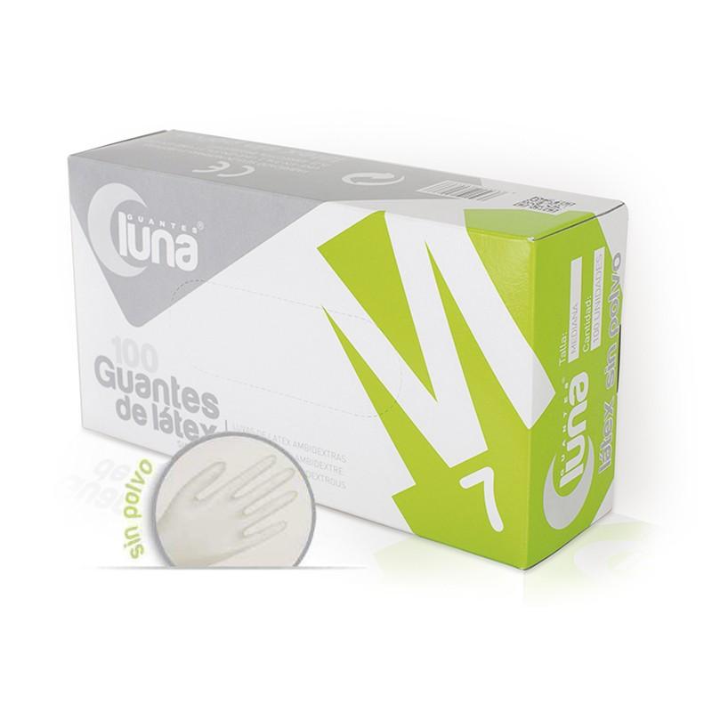 Guantes Sin Polvo de Látex Luna Caja 100 unidades