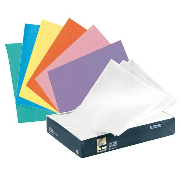 Papel Absorbente Bandeja 28x18cm Varios Colores 250 Uds. Euronda