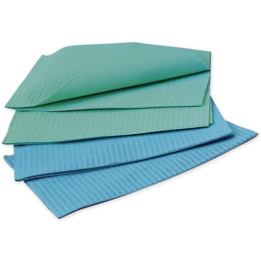 Baberos de Papel con Plástico Caja 500 Uds.